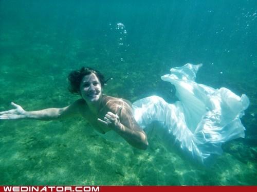 gown,Hawaii,swim,trash the dress