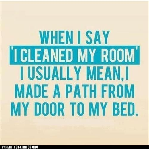 bed,cleaning your room,path