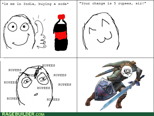 Rage Comics: A Whole Blue Rupee!?