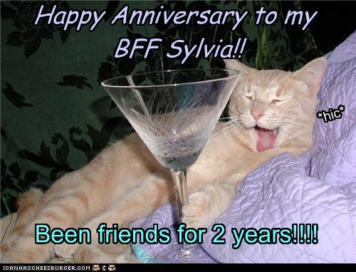 Happy Anniversary to my  BFF Sylvia!!