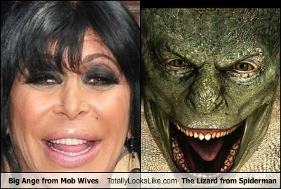 "Big Ange from ""Mob Wives"" Totally Looks Like The Lizard from ""The Amazing Spider-Man"""