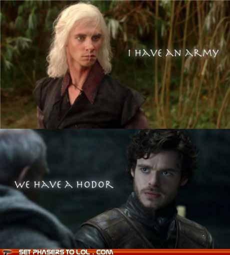 Game of Thrones,Harry Lloyd,hodor,iron man,loki,quotes,Richard Madden,Robb Stark,tony stark,Viserys Targaryen