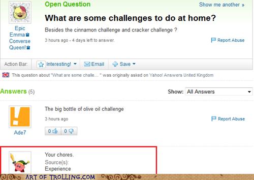 challenges,chores,home,parenting,Yahoo Answer Fai,Yahoo Answer Fails