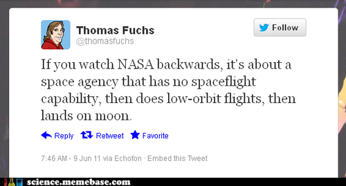 backwards,nasa,Rocket Science,space flight,twitter