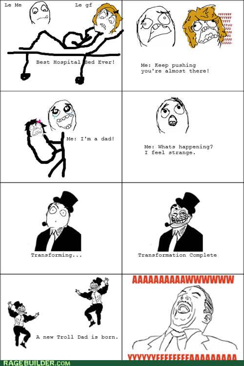 Rage Comics: Two Trolls Were Born This Day
