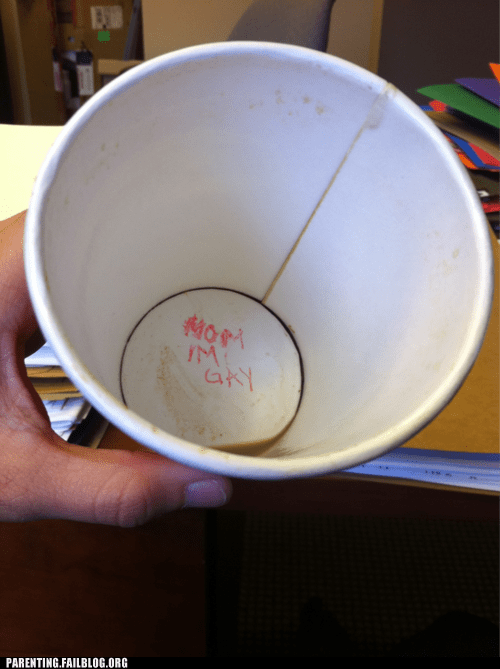 coffee,coming out,cup,gay