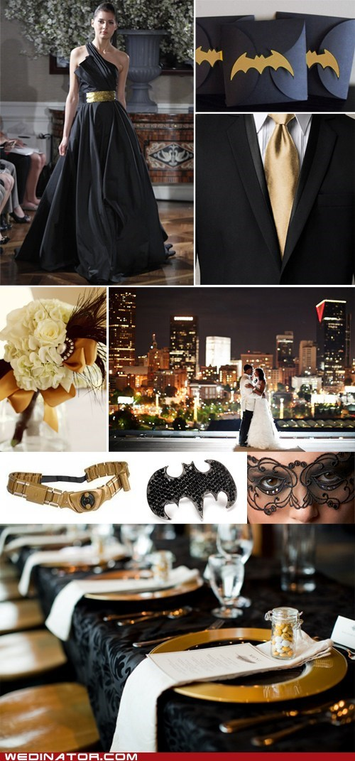 Just Pretty: Elegant Batman Wedding