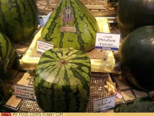 crazy,cube,Japan,pyramid,watermelon