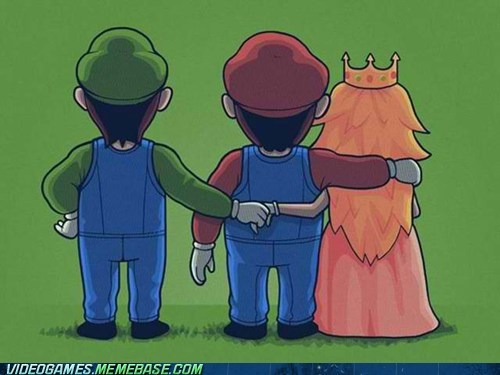 brothers,luigi,mario,princess peach,secret