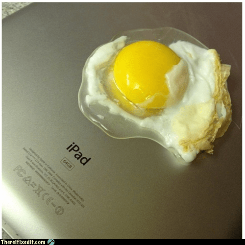 egg,Fried Egg,heat wave,ipad