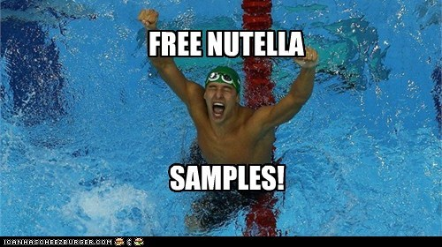 cheer,London 2012,nutella,olympics,South Africa,swimming