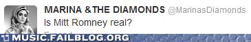 facebook,marina and the diamonds,Mitt Romney,politics,welsh