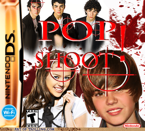 pop stars,shoot,video games
