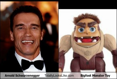 Arnold Schwarzenegger Totally Looks Like Bigfoot Monster Toy