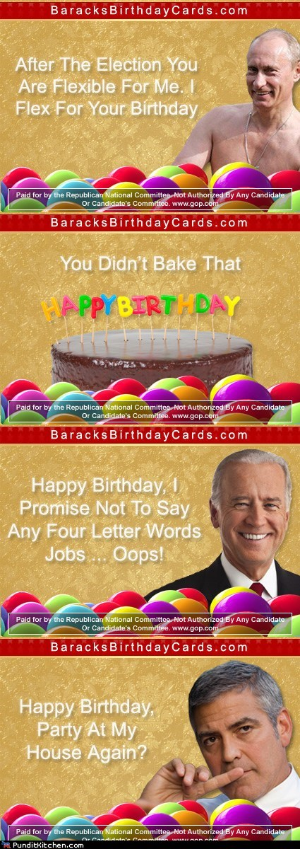 Barack's Birthday Cards