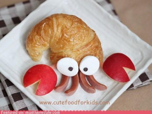 apple,croissant,epicute,hermit crab,hot dogs