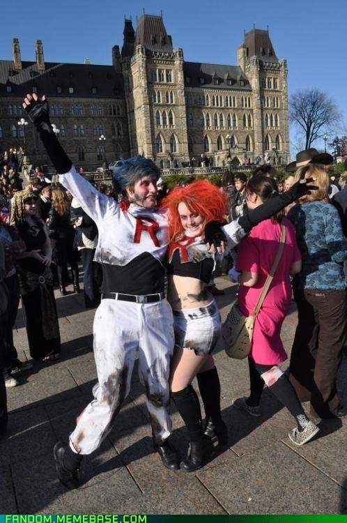 cosplay,Pokémon,Team Rocket,zombie
