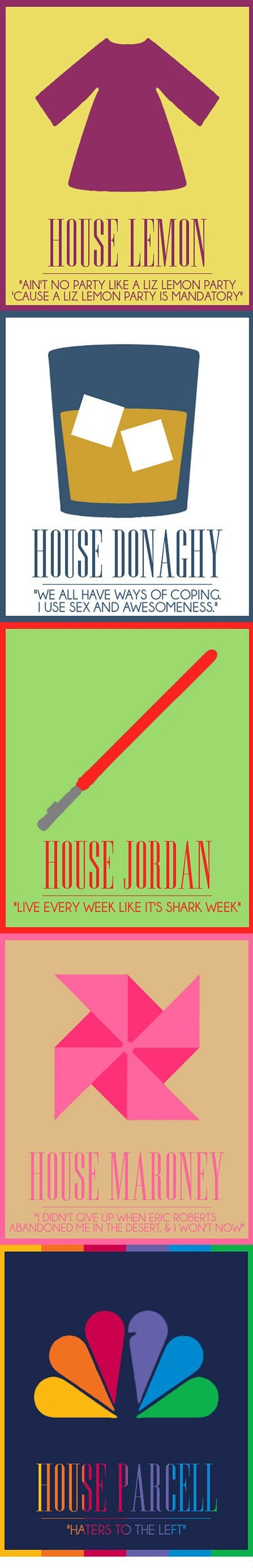 'Game of Thrones'-Inspired Houses of '30 Rock'