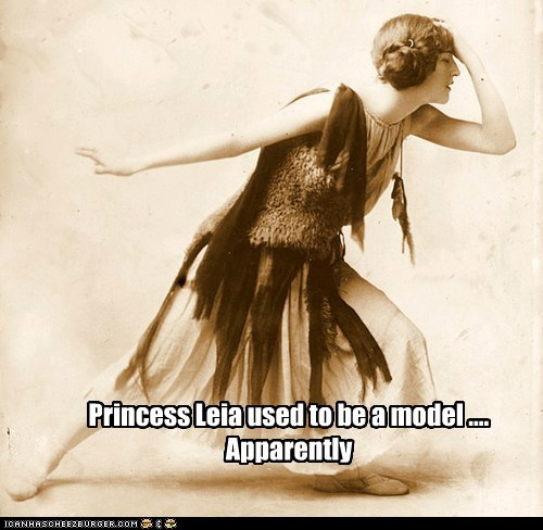 Princess Leia used to be a model .... Apparently
