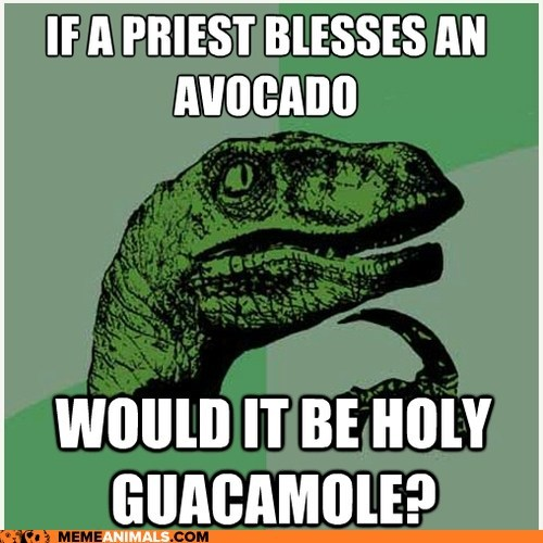 Animal Memes: Philosoraptor - Would It Be a Sin to Make That Guacamole?