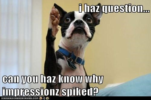 i haz question...  can you haz know why impressionz spiked?