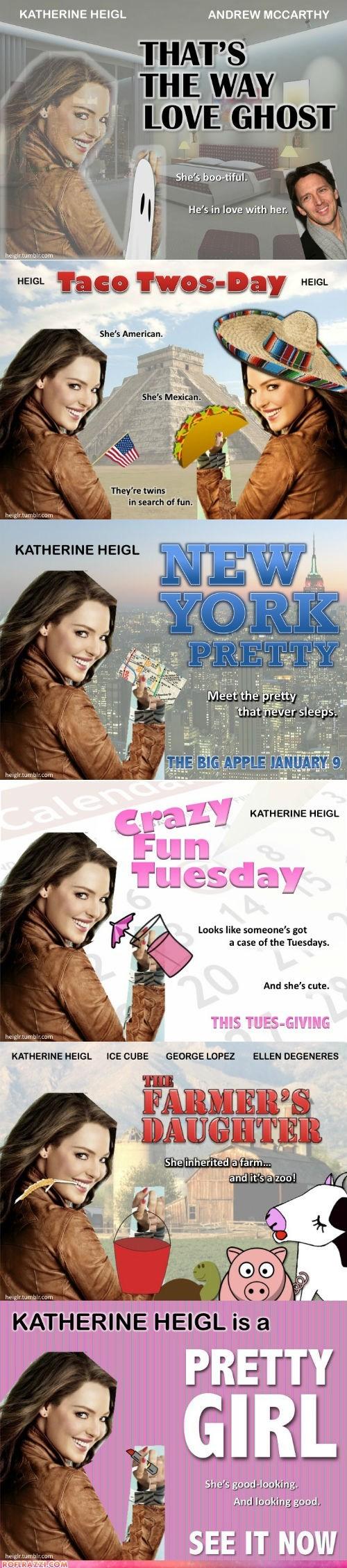 fake,katherine heigl,movie posters,movies,romantic comedies,stupid