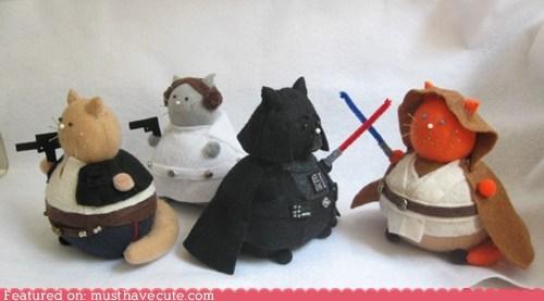 Cats,felt,pincushion,pincushions,products,star wars
