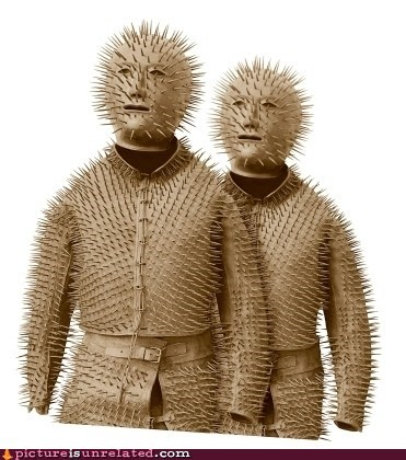 armor,hugging,spiked