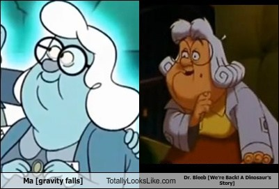 Ma (Gravity Falls) Totally Looks Like Dr. Bleeb (We're Back! A Dinosaur's Story)