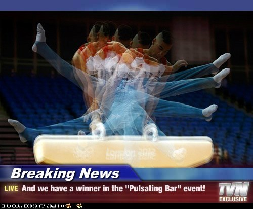 "Breaking News - And we have a winner in the ""Pulsating Bar"" event!"