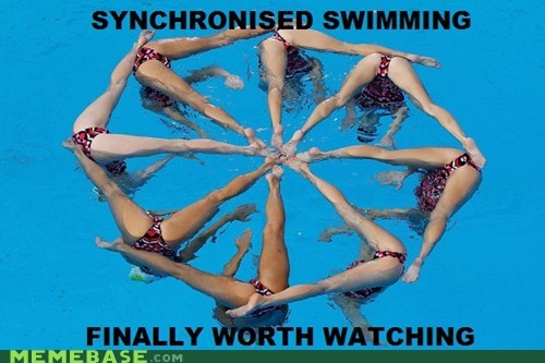 And you wondered why it is an Olympic event....