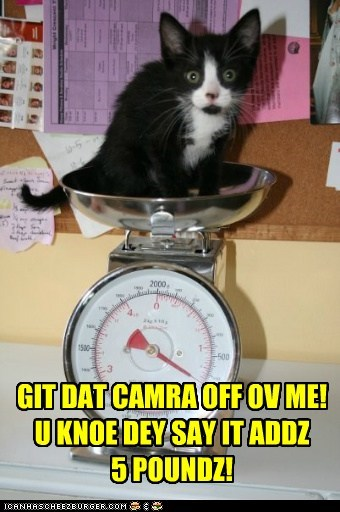 I'M WATCHIN MAH WEIGHT!