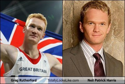Greg Rutherford Totally Looks Like Neil Patrick Harris