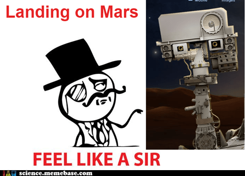 Landing on Mars, like a sir