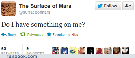 Yes, Mars, you do!