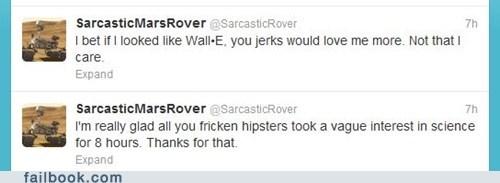 curiosity,mars rover,sarcastic