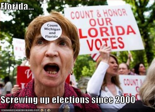 Florida...  Screwing up elections since 2000