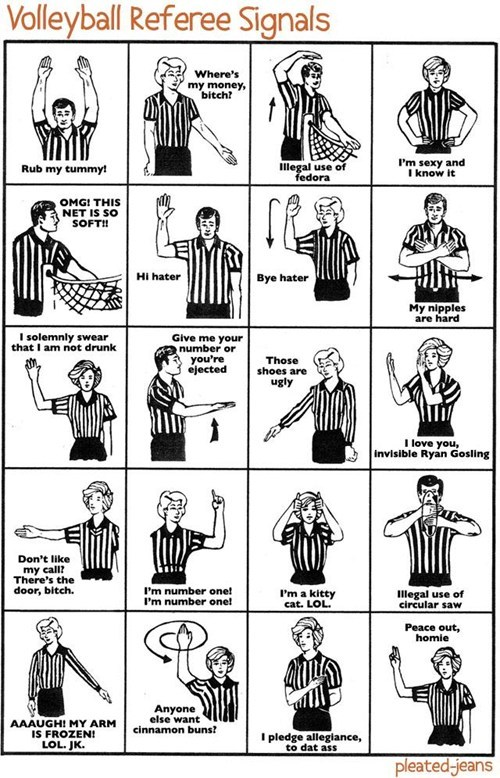 What Referee Signals Actually Mean