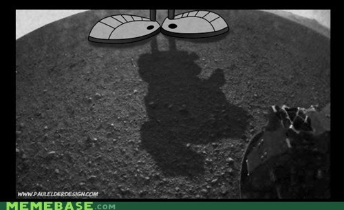 curiosity,Mars,marvin the martian,Memes,shadow