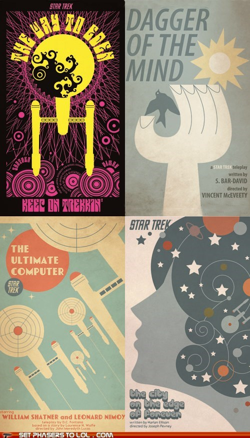 "Retro ""Star Trek"" Posters"