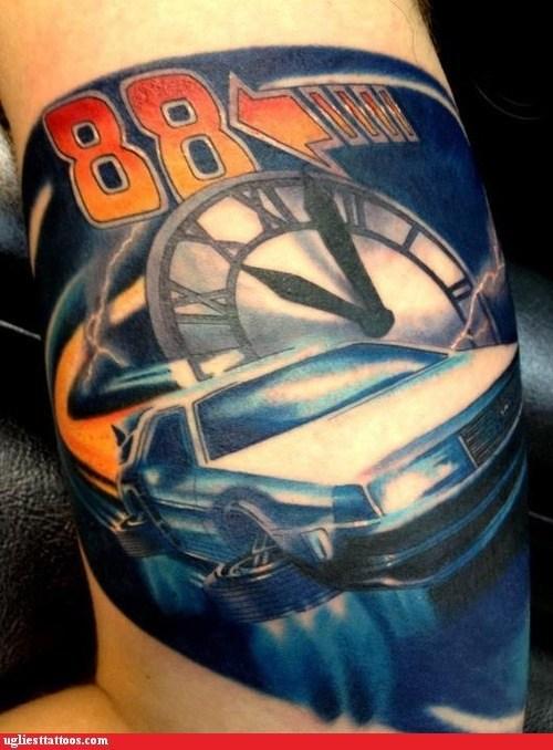 88,back to the future,clock tower,DeLorean