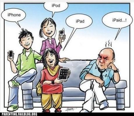 grumpy dad,ipad,iphone,ipod