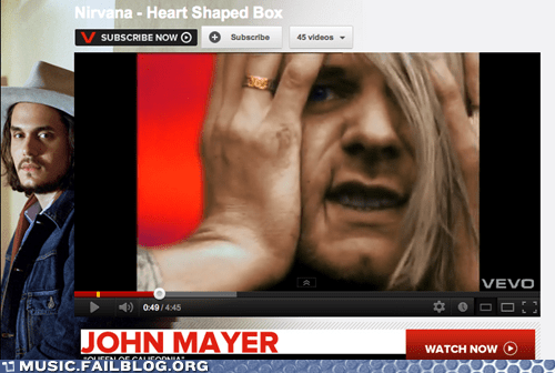 Kurt Cobain Can't Believe What Corporate Execs Have Stapled to His Music Video