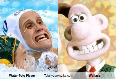 Water Polo Player Totally Looks Like Wallace