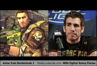 Axton from Borderlands 2 Totally Looks Like MMA Fighter Kenny Florian