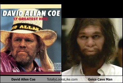 David Allan Coe Totally Looks Like Geico Cave Man