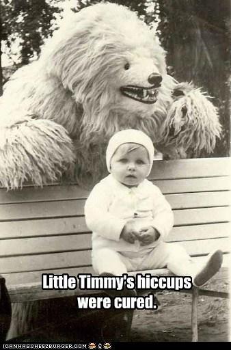 baby,bear,bench,scary