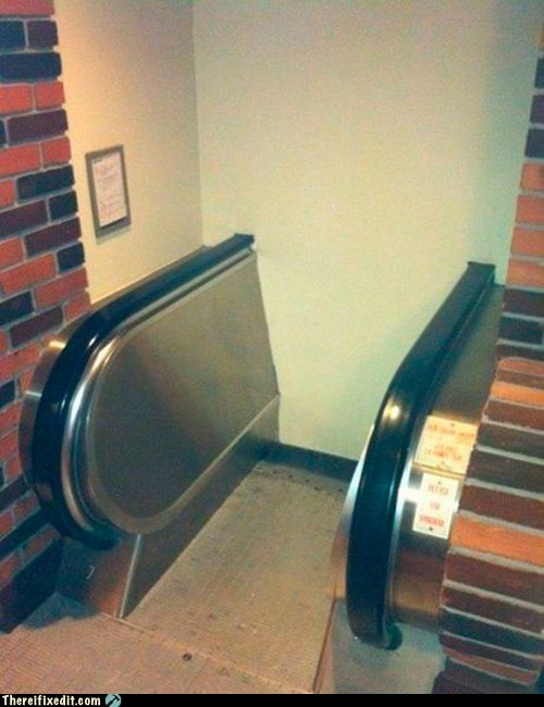 Escalator Temporarily Wall