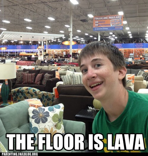 floor is lava,furniture store,games