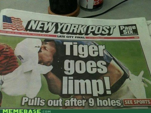 Tiger is Losing His Touch